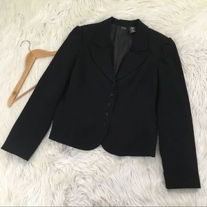 Nicole by Nicole Miller Black Mini Button Blazer